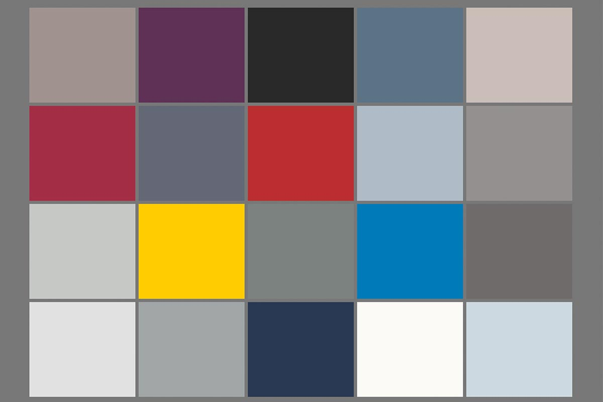 "Characteristic colour palette for the experience ""Construction"""