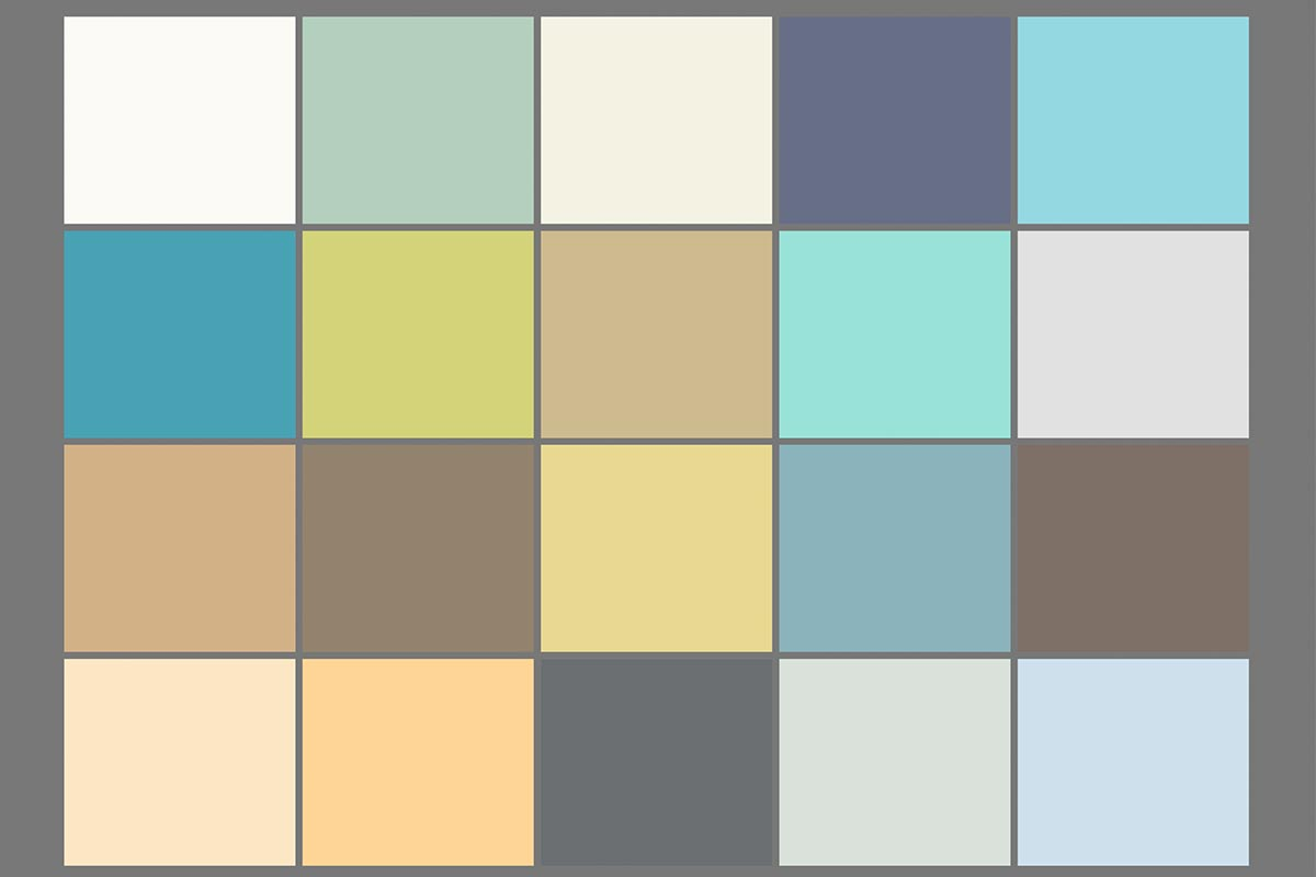 "Characteristic colour palette for the experience ""Water"""