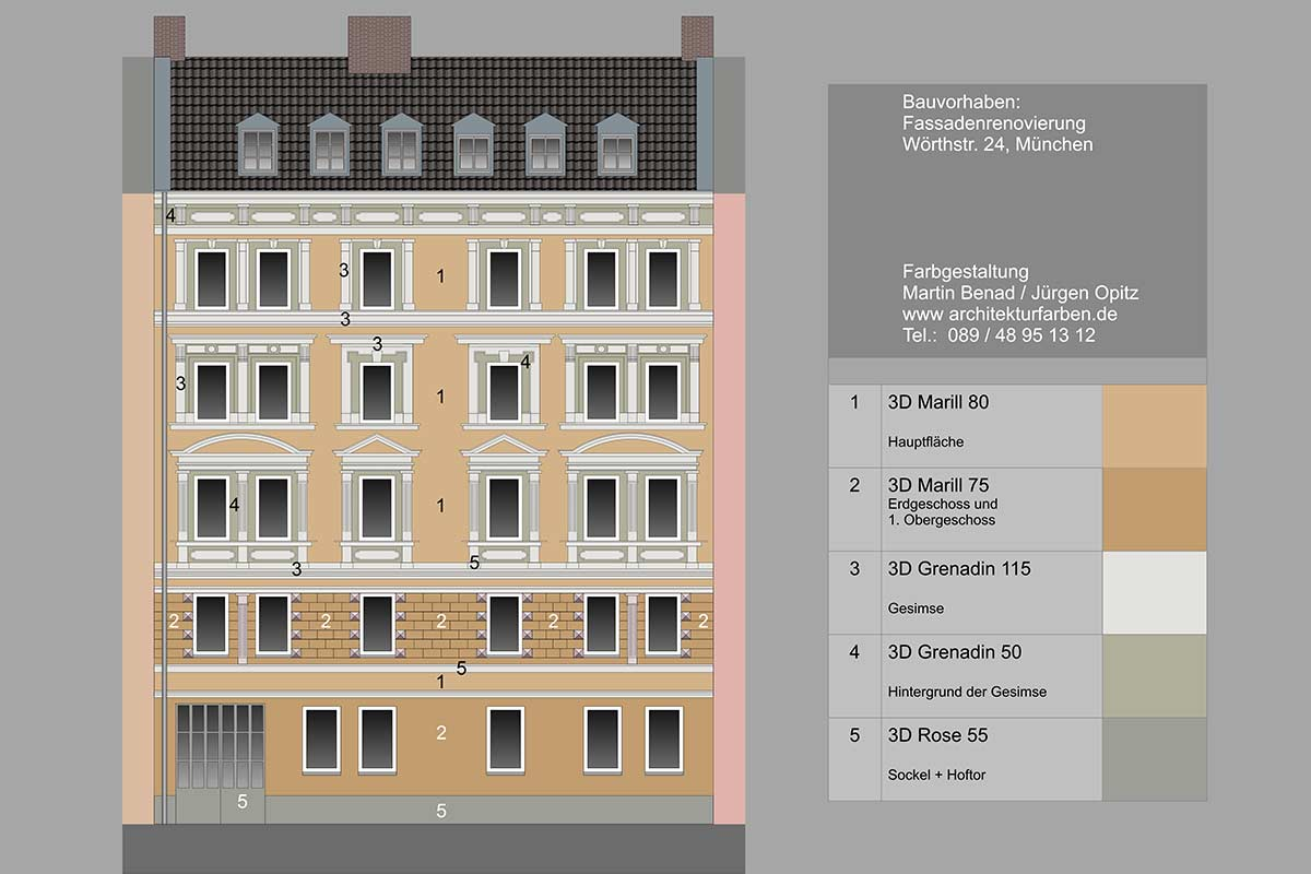 Colour suggestions for renovating a facade