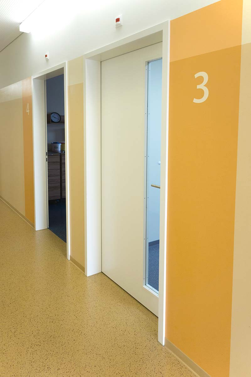 Hallway down to the treatment rooms